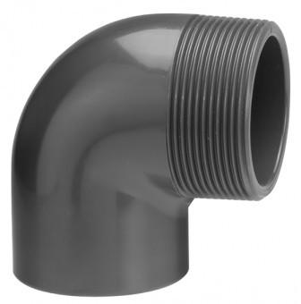 PVC Winkel 90° (mit Außengewinde)