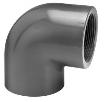 PVC Winkel 90° (mit Innengewinde)